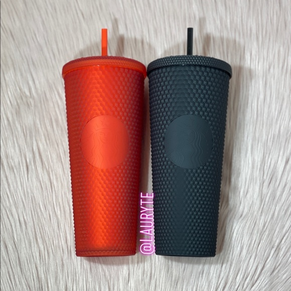 Starbucks Red and Black Studded Tumblers